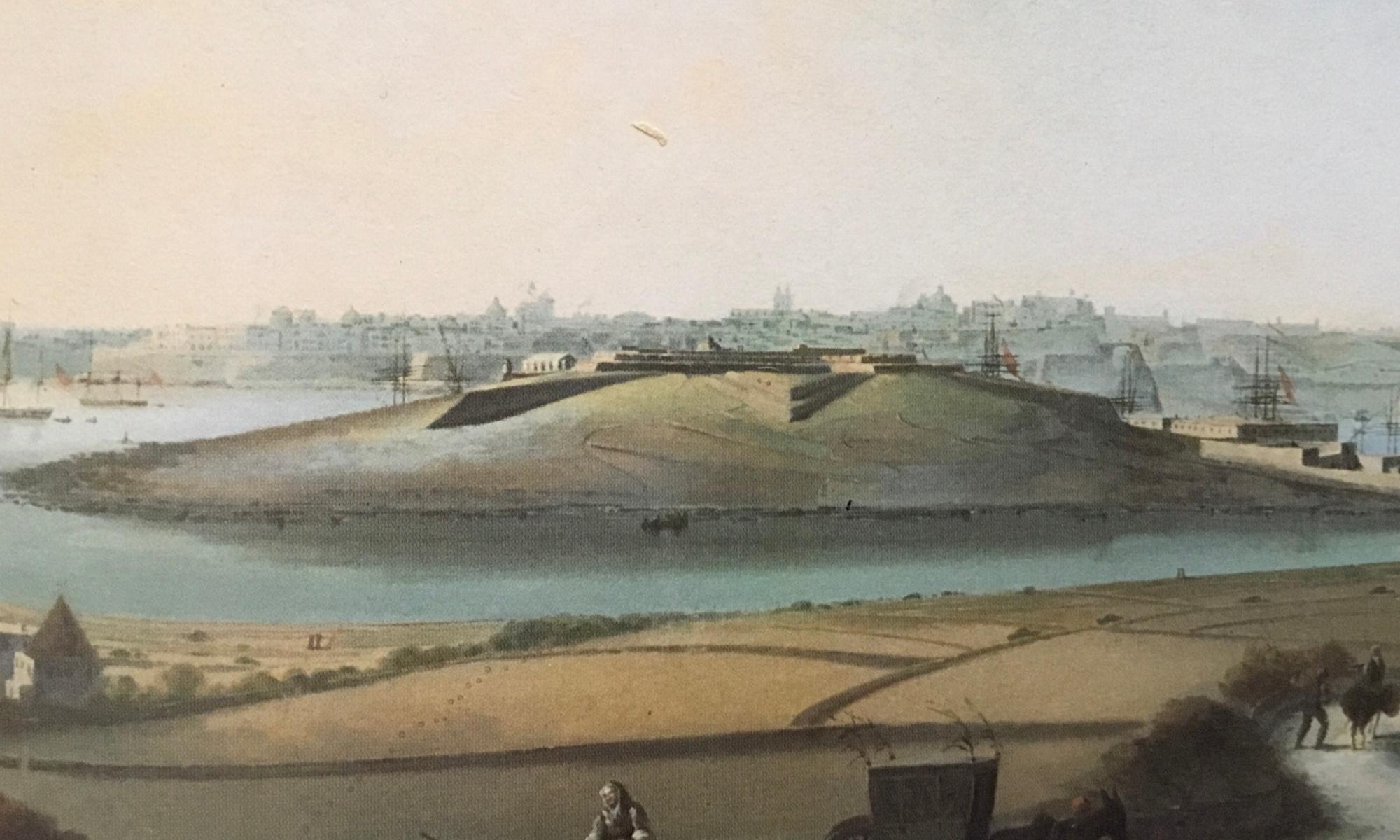 Image of Manoel Island (1800s) by Giorgio Pullicino